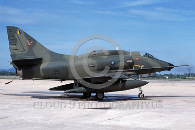 A-4Forg-Braz 0015 A static Brazilian Navy Douglas A-4 Skyhawk attack jet military airplane picture by P Steinemann