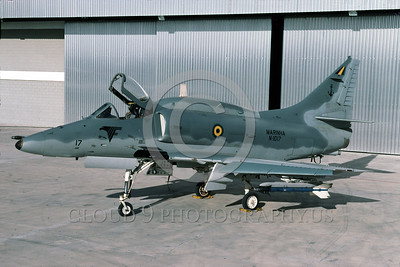 A-4Forg-Braz 0022 A static Brazilian Navy Douglas A-4 Skyhawk attack jet 6-2003 military airplane picture by Ken Ingle