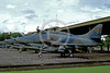 A-4Forg-Ind 0003 A static Indonesian Air Force A-4 Skyhawk attack jet 8-2002 military airplane picture by Bettaro Segio