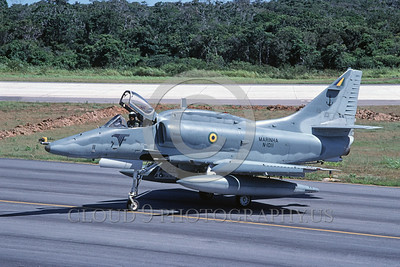A-4Forg-Braz 0007 A static Brazilian Navy Douglas A-4 Skyhawk attack jet, military airplane picture