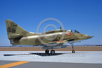 A-4Forg-Kuw 0011 A static Kuwait Air Force Douglas A-4KU Skyhawk attack jet, 160180, military airplane picture, by Michael Grove, Sr