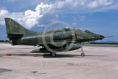 A-4Forg-Braz 0017 A static Brazilian Navy Douglas A-4 Skyhawk attack jet military airplane picture by P Steinemann
