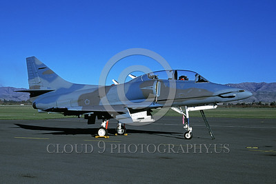 A-4Forg-Ind 0009 A static Indonesian Air Force Douglas TA-4J Skyhawk attack jet, 6-1999, military airplane picture, by Wilfreid Zetsche