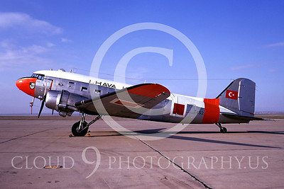 C-47Forg 00001 Douglas C-47 Skytrain Turkish Air Force TK52 January 1970 by Bob Burgess