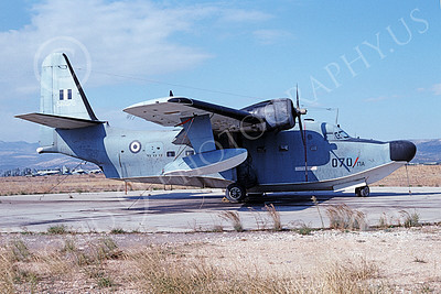HU-16Forg 00009 A static Grumman HU-16D Albatross Hellenic Air Force 510070 11-1995 military airplane picture by Carl Robson