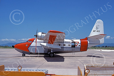 HU-16Forg 00001 A static Grumman HU-16D Albatross Mexican Navy MP-403 military airplane picture by Christian Jordan