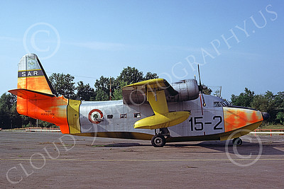 HU-16Forg 00013 A static Grumman HU-16D Albatross Italian Air Force 8-1983 military airplane picture by Gary Holzman
