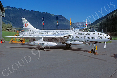 Hawker Hunter 00035 Hawker Hunter Swiss Air Force Fliegerstaffel 15 15 October 1994 via African Aviation Slide Service