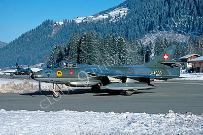 Hawker Hunter 00001 Hawker Hunter Swiss Air Force J-4003 by Christoph Kugler 18 November 1993 via African Aviation Slide Service