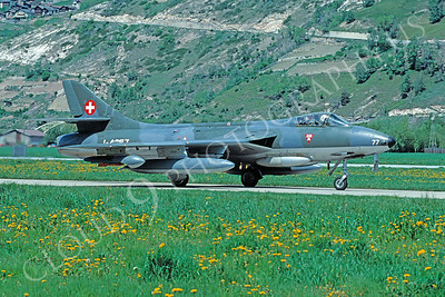 Hawker Hunter 00023 Hawker Hunter Swiss Air Force 4 May 1993 by Christoph Kugler via African Aviation Slide Service