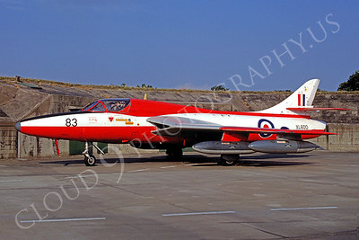 Hawker Hunter 00003 Hawker Hunter British RAF XL600 September 1980 by Wilfried Zetsche