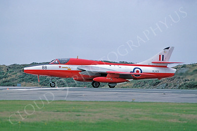 Hawker Hunter 00015 Hawker Hunter British RAF XL601 20 August 1979 by Stephen W D Wolf