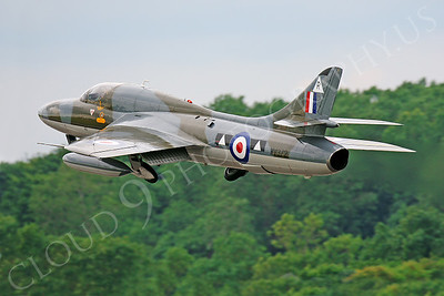 Hawker Hunter 00010 Hawker Hunter British RAF by Peter J Mancus