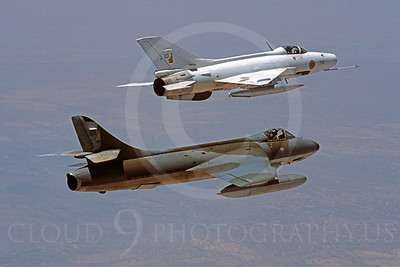 Hawker Hunter 00004 Hawker Hunter and Chengdu F-7 Zimbabe Air Force October 1996 via African Aviation Slide Service