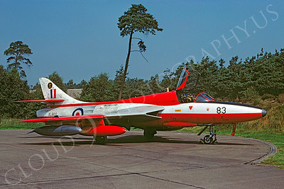 Hawker Hunter 00031 Hawker Hunter British RAF XL600 August 1981 by Wilfried Zetsche