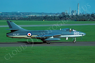 Hawker Hunter 00017 Hawker Hunter British Royal Navy XF977 15 September 1979 by Stephen W D Wolf