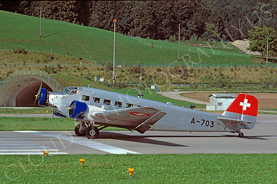 Junkers Ju-52 00003 Junkers Ju-52 Swiss Air Force A-703 September 1978 via African Aviation Slide Service