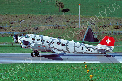 Junkers Ju-52 00001 Junkers Ju-52 Swiss Air Force A-702 September 1978 via African Aviation Slide Service