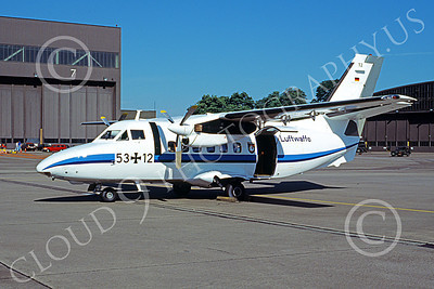 L-410 00003 A static Let Kunovice L-410 Tubolet German Air Force 53 12 6-1994 military airplane picture by Marcus Herbote