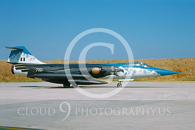 EE-F-104FORG 00005 Lockheed F-104 Starfighter Hellenic # 7161 1992 by Achille Vigna via AASS