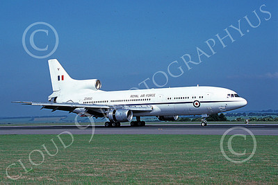 L1011Forg 00001 A taxing Lockheed L1011 Tristar British RAF ZD950 7-2003 military airplane picture by Clark Hansen