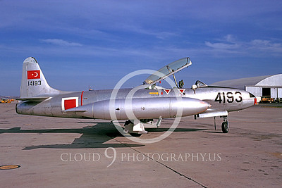 T-33Forg 00003 Lockheed T-33 Shooting Star Turkish Air Force Jan 1970 by Bob Rys