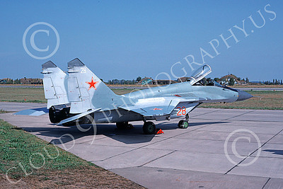 MiG-29 00047 A static Mikoyan-Guryevich MiG-29 Fulcrum Soviet Air Force 28 9-1992 military airplane picture by E De Kruyff