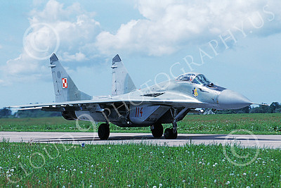 MiG-29 00069 A taxing Mikoyan-Guryevich MiG-29 Fulcrum Polish Air Force 114 6-1999 military airplane picture by Bill Coughlin6-1999 military airplane picture by Jan Jorgensen