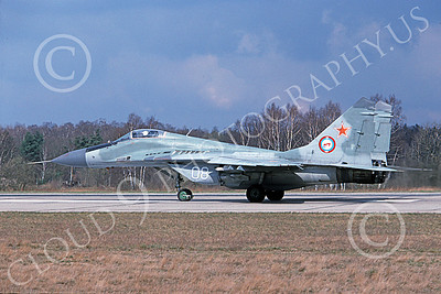 MiG-29 00059 A taxing Mikoyan-Guryevich MiG-29 Fulcrum jet fighter Soviet Air Force 08 4-1994 military airplane picture by Wilfreid Zetsche