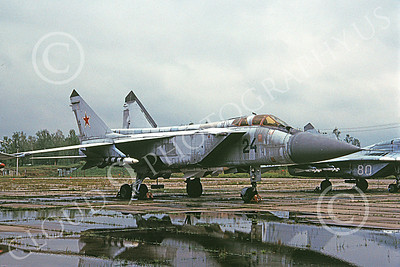 MiG-31 00007 A static Mikoyan-Guryevich MiG-31 Foxhound Soviet Air Force 24 9-2000 military airplane picture by Jeff Conners