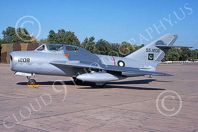 MiG-15UTI 00017 A static Mikoyan-Guryevich MiG-15UTI Pakistani Air Force 554208 2-2002 military airplane picture by Ben Harper