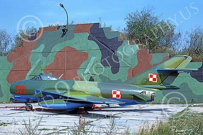 MiG-17 00011 A static Mikoyan-Guryevich MiG-17 Fresco Polish Air Force 321 9-1991 military airplane picture by Wilfreid Zetsche
