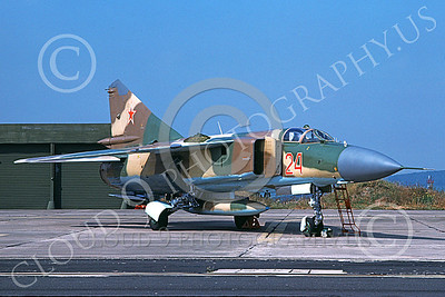 MiG-23 00057 A static Mikoyan-Guryevich MiG-23 Flogger Soviet Air Force 24 9-1978 military airplane picture by Wilfreid Zetsche