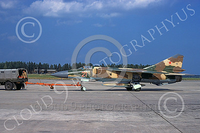 MiG-23 00053 A towed Mikoyan-Guryevich MiG-23 Flogger Soviet Air Force 05 8-1978 military airplane picture by Klaus Niska