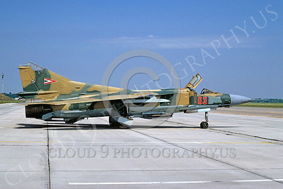 Mikoyan-Guryevich MiG-23 Flogger 00021 Mikoyan-Guryevich MiG-23 Flogger Hungarian Air Force August 1991 via African Aviation Slide Service