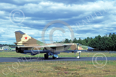 MiG-23 00055 A taxing Mikoyan-Guryevich MiG-23 Flogger Soviet Air Force 21 8-1978 military airplane picture by Wilfreid Zetsche