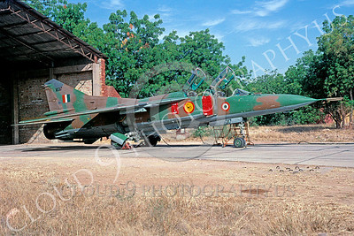 Mikoyan-Guryevich MiG-23 Flogger 00033 Mikoyan-Guryevich MiG-23 Flogger Indian Air Force MS317 December 1998 via African Aviation Slide Service