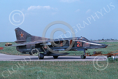 MiG-23 00063 A taxing Mikoyan-Guryevich MiG-23 Flogger Soviet Air Force 05 8-1992 military airplane picture 5-1992 by Wieland Stolze