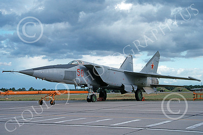 MiG-25 00019 A static Mikoyan-Guryevich MiG-24 Foxbat Soviet Air Force fighter interceptor 8-1991 military airplane picture by Wilfried Zetsche