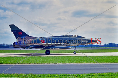 F-100-Turk 001 A taxing North American F-100D Super Sabre, Turkish Air Force 0-62966, a Cold War era supersonic jet fighter, 1970 Rheim, military airplane picture by Stephen W  D  Wolf     11A_0477     Dt