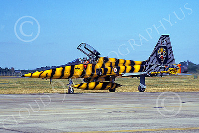 F-5Forg 00007 A taxing Northrop F-5E Freedom Fighter Norwegian Air Force 134 Tiger Meet markings military airplane picture by Wildried Zetsche