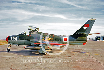 F-84F-Forg 00003 Republic F-84F Thunderstreak Turkish Air Force Jan 1970 by Bob Burgess