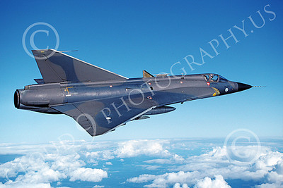 SAAB Draken 00006 A flying SAAB Draken 355 Finnish Air Force 6-1994 military airplane picture by Jyrki Laukkanen