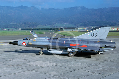 SAAB Draken 00009 SAAB Draken Austrian Air Force November 1998 via African Aviation Slide Service