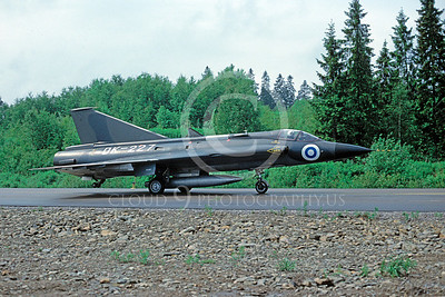 SAAB Draken 00003 SAAB Draken Finnish Air Force DK-227 via African Aviation Slide Service