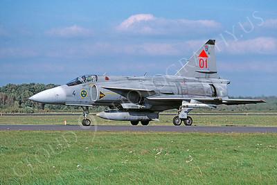 SAAB Viggen 00013 SAAB Viggen Swedish Air Force October 2002 via African Aviation Slide Service