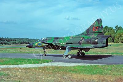 SAAB Viggen 00021 SAAB Viggen Swedish Air Force August 1981 by Wilfried Zetsche