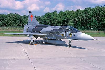 SAAB Viggen 00019 SAAB Viggen Swedish Air Force September 2000 via African Aviation Slide Service