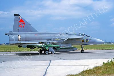 SAAB Viggen 00009 SAAB Viggen Swedish Air Force June 1992 via African Aviation Slide Service