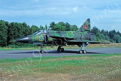 SAAB Viggen 00015 SAAB Viggen Swedish Air Force August 1981 by Wilfried Zetsche